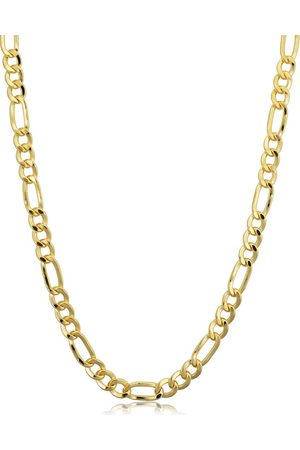 SuperJeweler 14K (11.70 g) 4.2mm Figaro Chain Necklace, 20 Inches