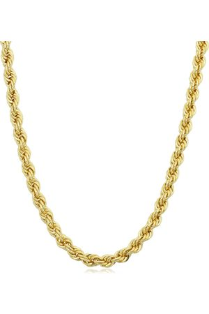 SuperJeweler 14K (13.10 g) 3.3mm Rope Chain Necklace, 20 Inches