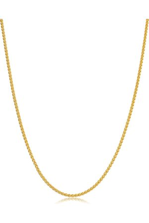 SuperJeweler 14K (6 g) 1.6mm Round Wheat Chain Necklace, 30 Inches