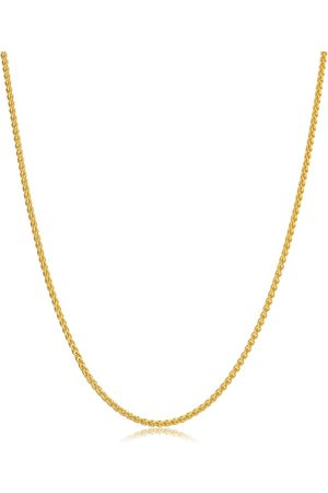 SuperJeweler 14K (4.70 g) 1.6mm Round Wheat Chain Necklace, 24 Inches
