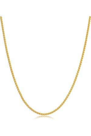 SuperJeweler 14K (4 g) 1.6mm Round Wheat Chain Necklace, 20 Inches