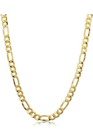 SuperJeweler 14K (10.50 g) 4.2mm Figaro Chain Necklace, 18 Inches