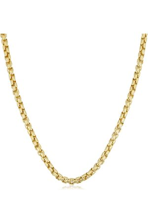 SuperJeweler 14K (27.40 g) 3.4mm Round Box Chain Necklace, 24 Inches