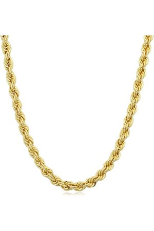 SuperJeweler 14K (11.90 g) 3.3mm Rope Chain Necklace, 18 Inches