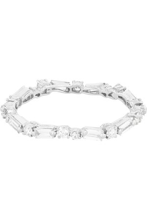 Suzanne Kalan Gold and Diamond Fireworks Thin Eternity Band Ring (Size 5.75)