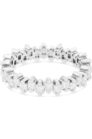 Suzanne Kalan Gold and Diamond Fireworks Thin Eternity Band Ring (Size 6.5)