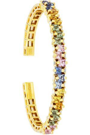 Suzanne Kalan Yellow , Sapphire and Diamond Pastel Fireworks Bangle