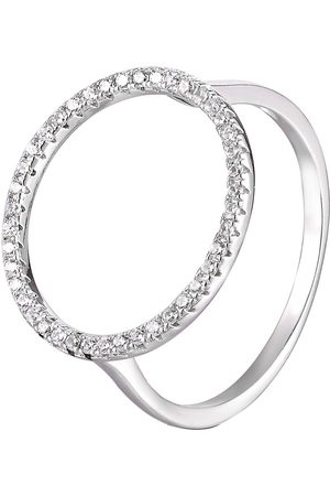 The Love Silver Collection Sterling Silver Open Circle Cubic Zirconia Ring