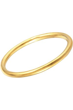 The Love Silver Collection 18Ct Gold Plated Sterling Silver Slim Plain Band Ring