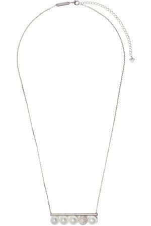 Tasaki 18kt white gold pearl diamond Balance Decade pendant necklace