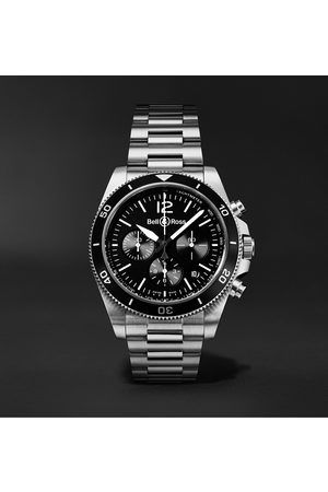 Bell & Ross BR V3-94 Automatic Chronograph 43mm Steel Watch, Ref. No. BRV394-BL-ST/SST