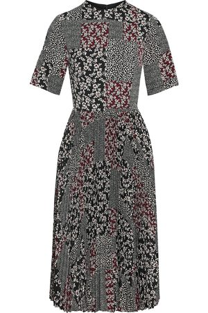 MIKAEL AGHAL Woman Pleated Printed Crepe De Chine Dress Size 10