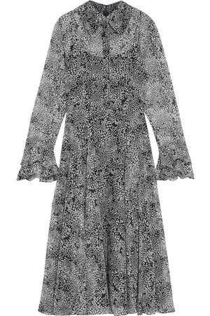 MIKAEL AGHAL Woman Ruffle-trimmed Printed Georgette Midi Dress Size 10