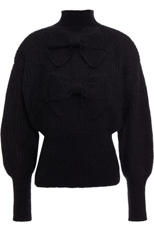 ZIMMERMANN Woman Bow-embellished Ribbed Mohair-blend Turtleneck Sweater Size 00