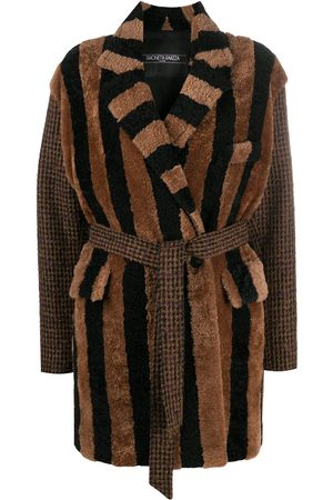 Simonetta Striped tie-waist coat