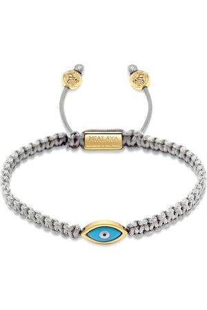 Nialaya Jewelry Gold plated eye weave bracelet