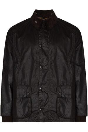 Barbour Faux-leather snap-button jacket