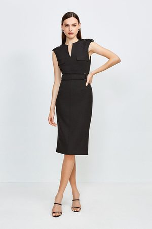 Karen Millen UK & IE Karen Millen Square D Ring Pencil Dress