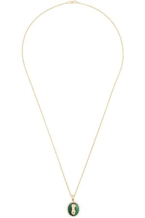O THONGTHAI 14kt yellow Virgo diamond necklace