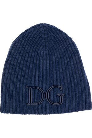 Dolce & Gabbana Logo-embroidered ribbed beanie