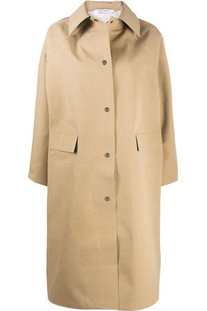 Kassl Editions Point collar rain coat - Neutrals