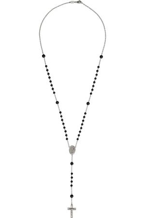 Dolce & Gabbana 18kt white gold rosary necklace