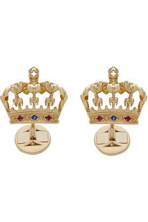Dolce & Gabbana 18kt yellow crown cufflinks
