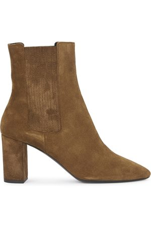 Saint Laurent Women Ankle Boots - Mica 75 Suede Ankle Boots