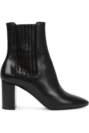 Saint Laurent Women Ankle Boots - Mica 75 Leather Ankle Boots