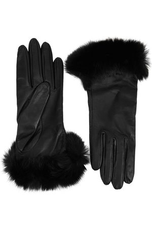 Dents Women Gloves - Glamis Fur-trimmed Leather Gloves
