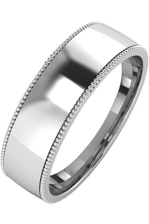 The Love Silver Collection Silver Mill Grain Edge 6Mm Court Wedding Band