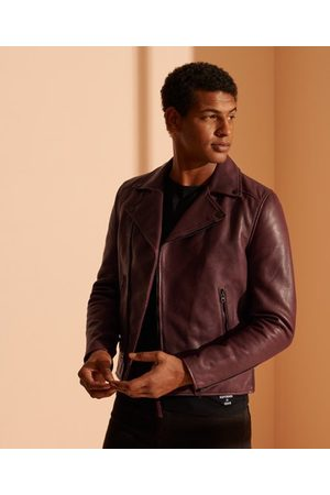 Superdry Leather Biker Jacket