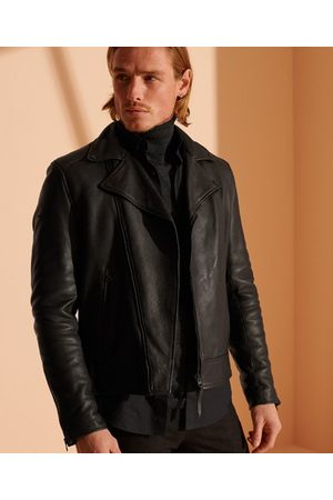 Superdry Men Blazers - Leather Biker Jacket