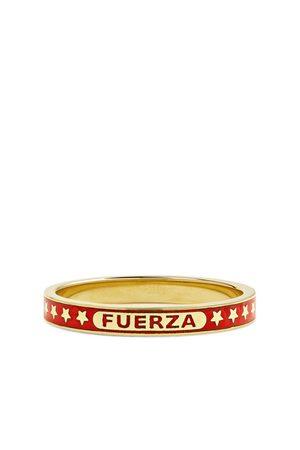 Foundrae Fuerza 18-Karat Gold and Enamel Ring