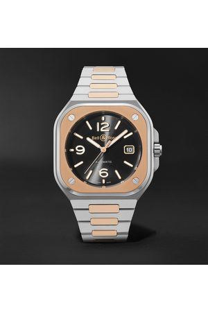 Bell & Ross BR 05 Automatic 40mm 18-Karat Rose Gold and Steel Watch, Ref. No. BR05A-BL-STPG/SSG