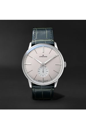Junghans Meister Classic Terrassenbau Limited Edition Hand-Wound 37.7mm Stainless Steel and Alligator Watch, Ref. No. 027/3000.02