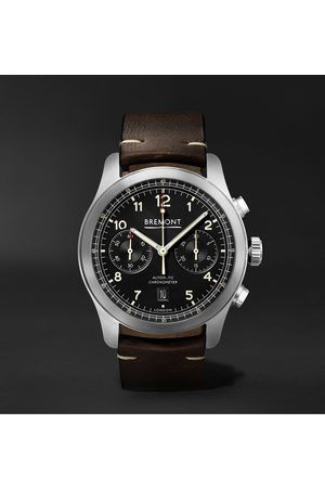 Bremont Men Watches - ALT1-C Griffon Automatic Chronograph 43mm Stainless Steel and Leather Watch