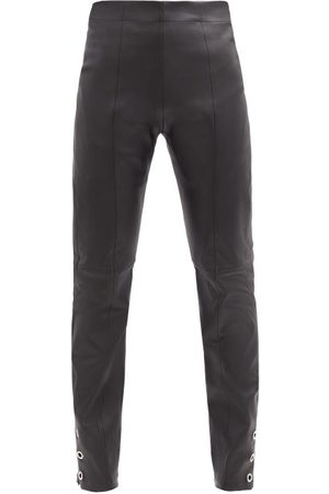 Ludovic De Saint Sernin High-rise Eyelet Zip-cuff Leather Trousers - Womens