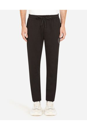 Dolce & Gabbana Collection - JERSEY JOGGING PANTS WITH 3D DG LOGO male 44