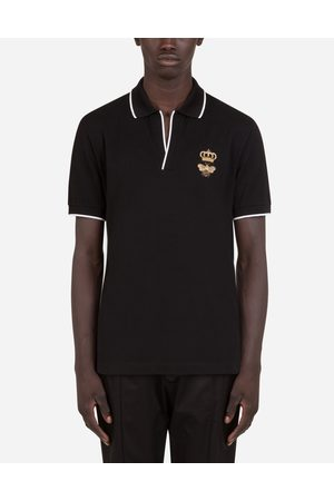 Dolce & Gabbana Collection - COTTON PIQUÉ POLO SHIRT WITH FRENCH WIRE PATCH male 44