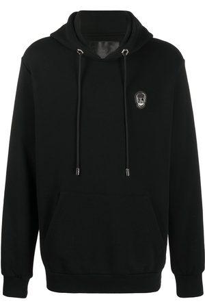Philipp Plein Skull patch rib-trimmed hoodie