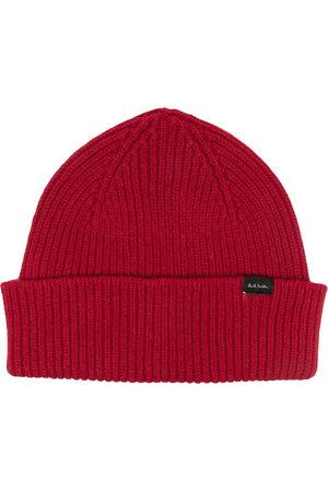 PAUL SMITH Men Beanies - Rib-knit beanie hat