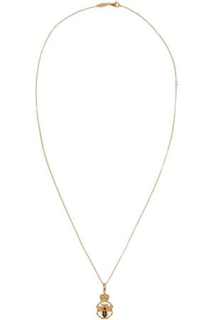 Dolce & Gabbana 18kt yellow diamond King pendant necklace