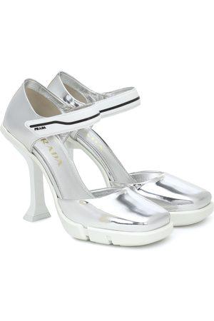 Prada Women Heels - Metallic leather pumps