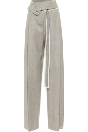 Stella McCartney Women Wide Leg Trousers - High-rise wool wide-leg pants
