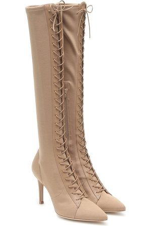 Gianvito Rossi Stretch-jersey knee-high boots
