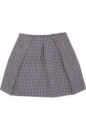 BONPOINT Checked wool-blend skirt