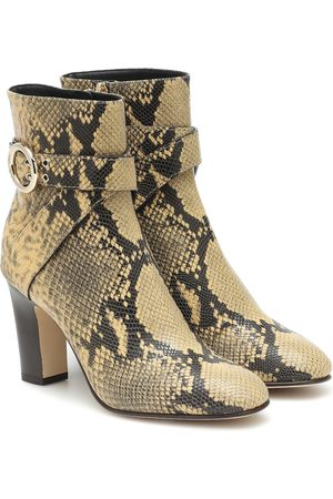 Jimmy Choo Blanka 85 leather ankle boots