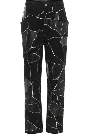 Isabel Marant Maeko straight leather pants