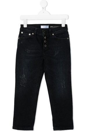 DONDUP KIDS Girls Straight - High-rise straight jeans